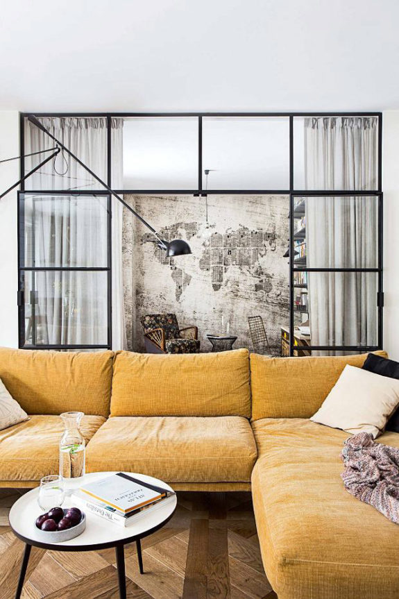 yellow velvet sectional. / sfgirlbybay