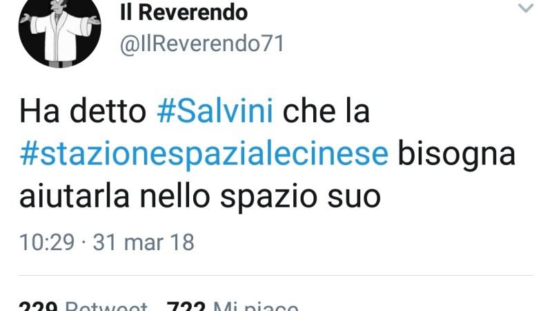 La stazione spaziale cinese NON cade in Italia: l'ironia social