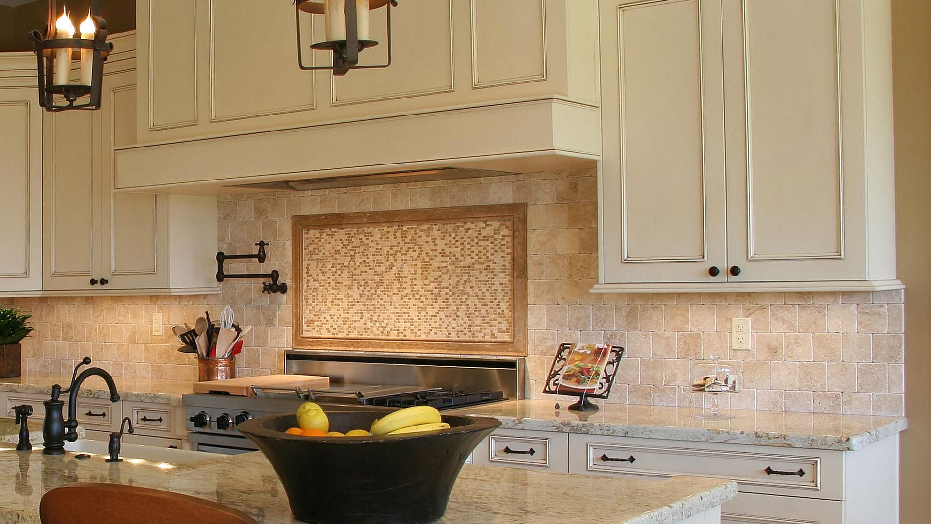 Kitchen Granite Marble Countertops Fabrication Tile Ladue ... on Granite Stove Backsplash  id=11349