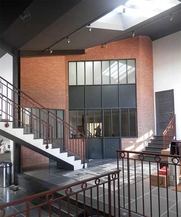 Aménagement intérieur métallique : Cloison style industriel Yvelines