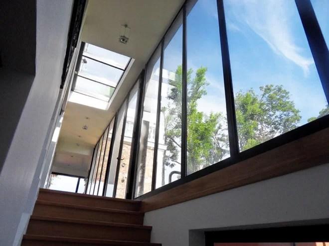 Baie vitrée et porte design métal-SFMP 78