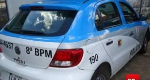 Carro da Polícia Militar foto Vinnicius Cremonez 6