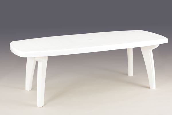 table sorrento blanche 170 220 x 95 x 72 cm