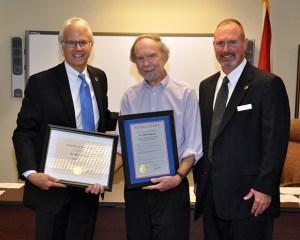 Photo of Dr. Leitzel, Dr. Gregory, and Derren Bryan