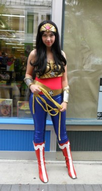 Wonder Woman at a comic shop in Grand Rapids, MI