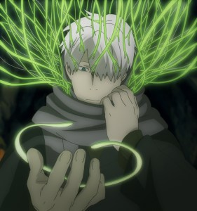 Ginko thinks he's blind in one eye, when really his hair has just been in the way for thirty years.