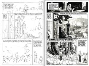 A side by side Comparison of PCR layouts to Scott Hampton's finished art