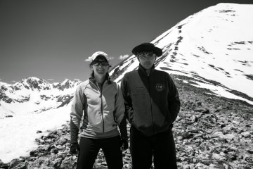 Courtney Schafer and Paul Weimer, on Quandry Mountain, Colorado