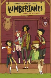 Brooke Allen cover to the forthcoming Lumberjanes Vol .1, which collects issues #1-4.