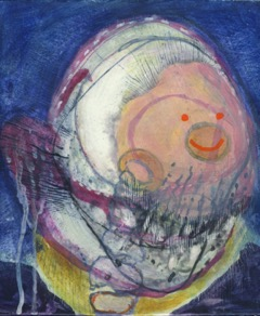 Cyclops egg tempera by Brian Catling