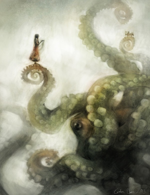 """A City On Its Tentacles"" Illustration by Galen Dara"