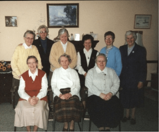 Some of the Franciscan sisters who worked in St. Mary of the Angels.