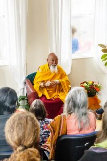 Picture: Lama Yeshe Rinpoche exhorted all the centre's users to be 'open-minded' and to practice 'unconditional compassion'.