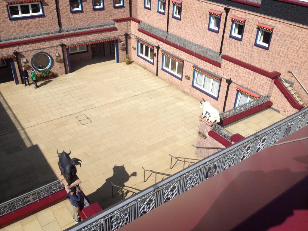 From the rooftop. A birds eye view of the courtyard
