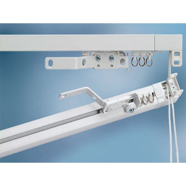 cord operated curtain track system parts