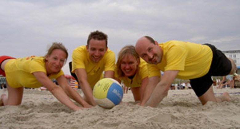 Bei der Volleyballsparte der SG 74 steht ganz eindeutig der Spaß an erster Stelle!