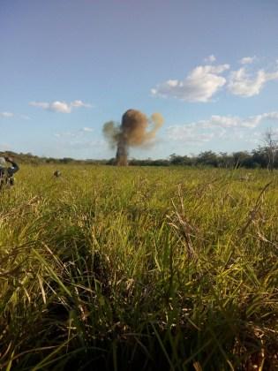 Detonación de explosivos