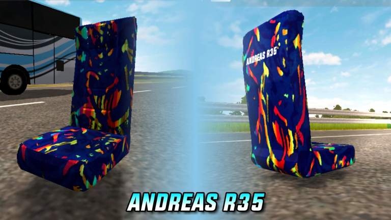 Andreas R35 Seat Mod for Bus Simulator Indonesia