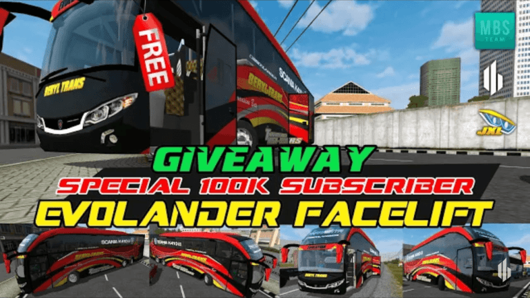 Evolander Facelift Vehicle Mod for Bus Simulator Indonesia