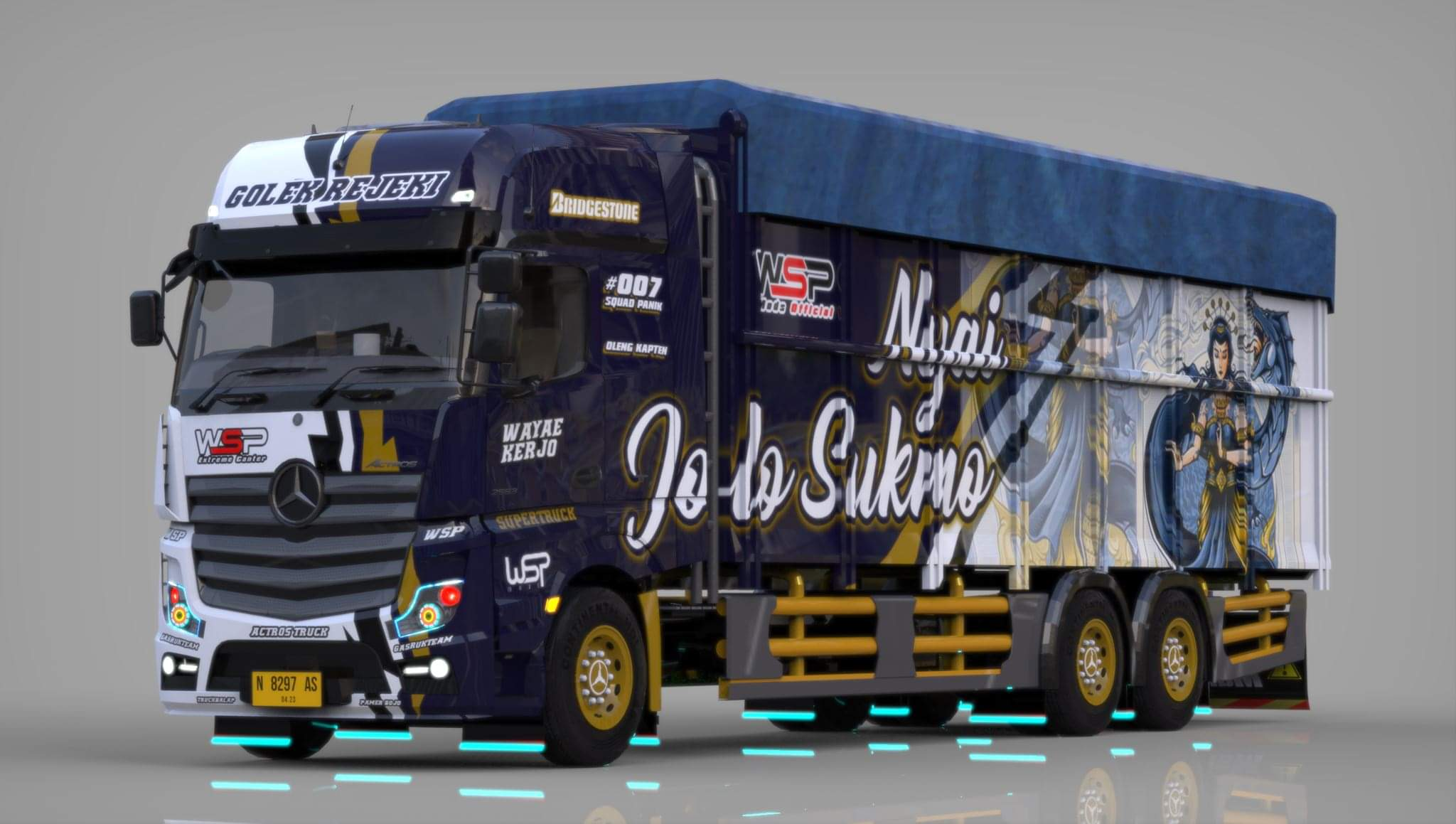 Download ACTROS TRUCK UPDATE Mod for Bus Simulator Indonesia, ACTROS TRUCK, Bus Simulator Indonesia Mod, BUSSID mod, Hino Ranger Truck Mod, SGCArena, Truck Mod for BUSSID, Vehicle Mod