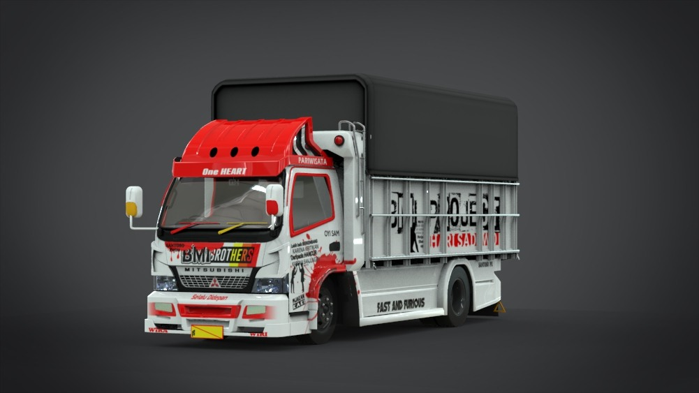 Download Canter FE74HD HSD Mod for Bus Simulator Indonesia, Canter FE74HD HSD Mod, BUSSID mod, Canter FE74HD HSD Mod, Hino Ranger Truck Mod, HSD Mod, Mod for BUSSID, SGCArena, Truck Mod for BUSSID, Vehicle Mod