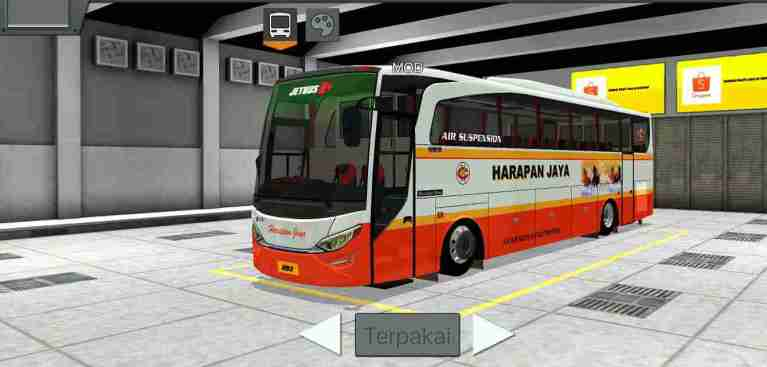 JetBus HD2 Mod for Bus Simulator Indonesia