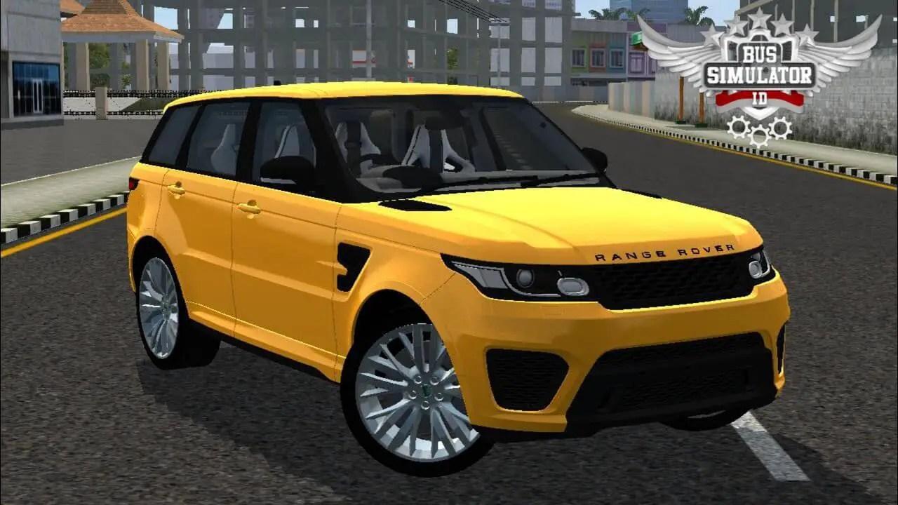 Range Rover Sport Mod BUSSID, Mod Range Rover Sport BUSSID, Range Rover Car Mod BUSSID, SGCArena