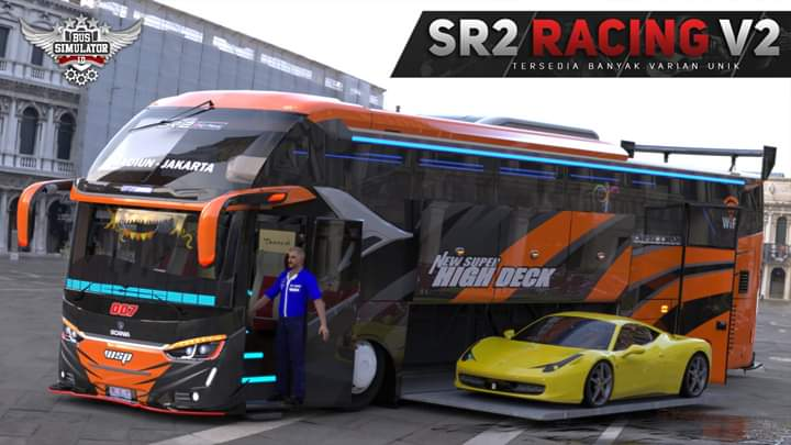 SR2 RACING V2 Bus Mod for Bus Simulator Indonesia