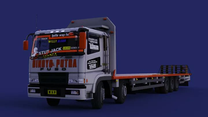 New FUSO SUPER GREAT TRIBALL Mod for BUSSID
