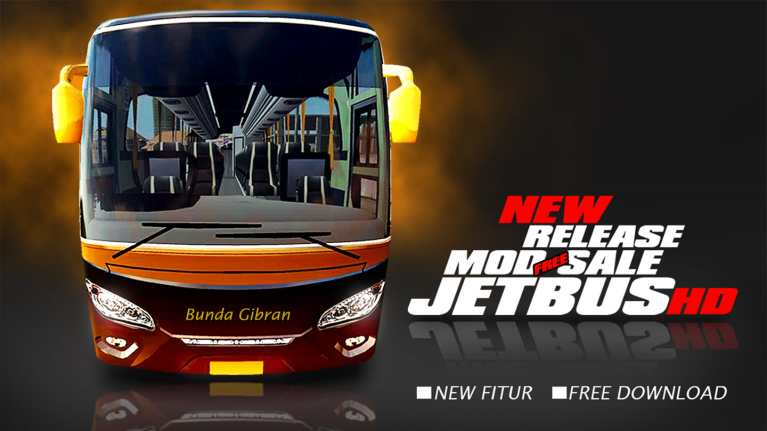 New JetBus HD Bus Mod for Bus Simulator Indonesia