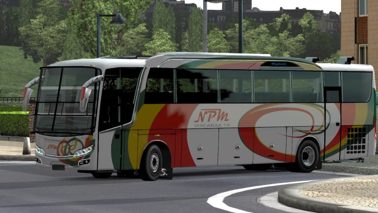 Skyliner Paid Bus Mod for Bus Simulator Indonesia