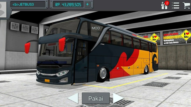 JetBus 3 Mod for Bus Simulator Indonesia