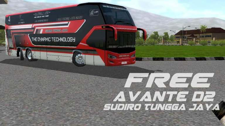 Avante D2 Double Decker Bus Mod for BUSSID