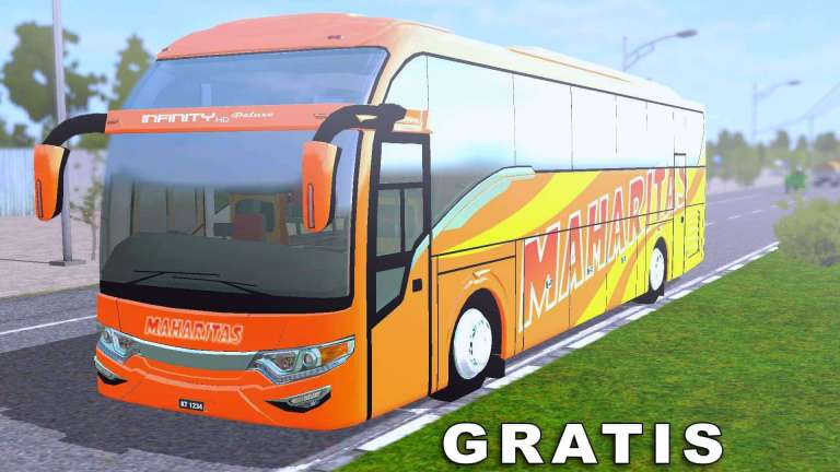 Infinity HD Deluxe Bus Mod for Bus Simulator Indonesia