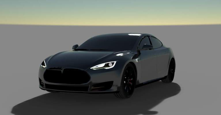 Tesla 2018 Car Mod for Bus Simulator Indonesia