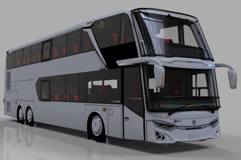 Update JetBus 3+ SDD Mod for Bus Simulator Indonesia