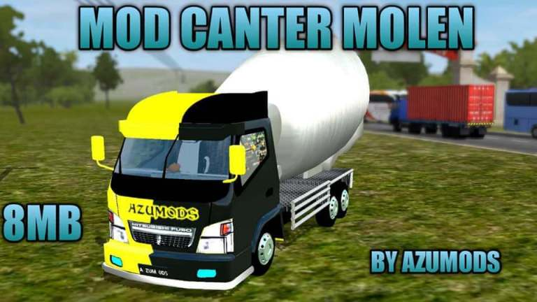 CANTER MOLEN Mod for Bus Simulator Indonesia