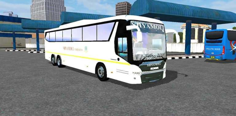 Indian Scania Metrolink Mod for Bus Simulator Indonesia