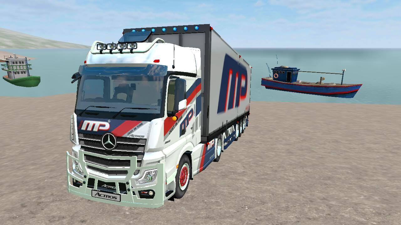 Actros V2 Truck Mod for BUSSID - SGCArena, Actros Truck Mod for BUSSID, Actros Truck Mod, Marcedes Benz Truck Mod, BUSSID Mod,