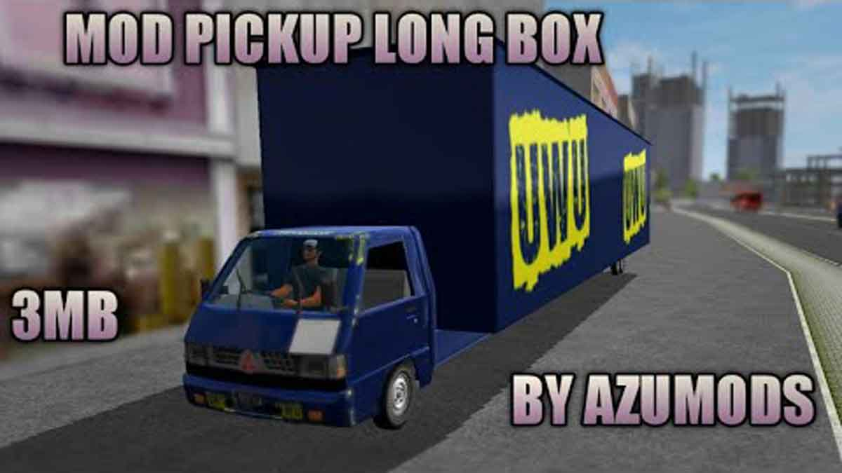 Download PICKUP With LONG BOX Mod for Bus Simulator Indonesia, PICKUP With LONG BOX, AZUMODS, BUSSID mod, Mod BUSSID, Mod for BUSSID, PICKUP Mod BUSSID, PICKUP Mod for BUSSID, PICKUP With LONG BOX Mod BUSSID, SGCArena, Truck Mod for BUSSID, Vehicle Mod
