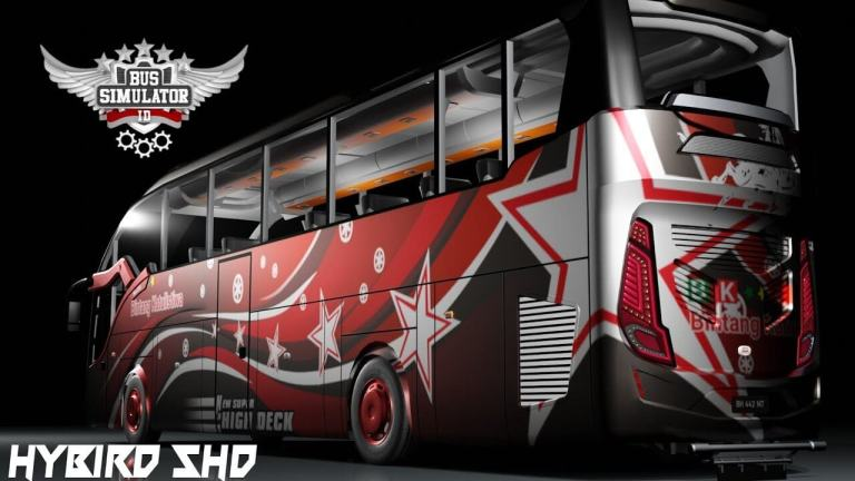 Hybrid SHD Bus Mod for Bus Simulator Indonesia