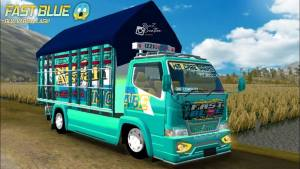 Canter Fast Blue, Canter Fast Blue Mod BUSSID, Mod BUSSID Canter Fast Blue, Mod Canter Fast Blue BUSSID, BUSSID Truck Mod, BUSSID Mod, Mod BUSSID, SGCArena, RMC Creation,