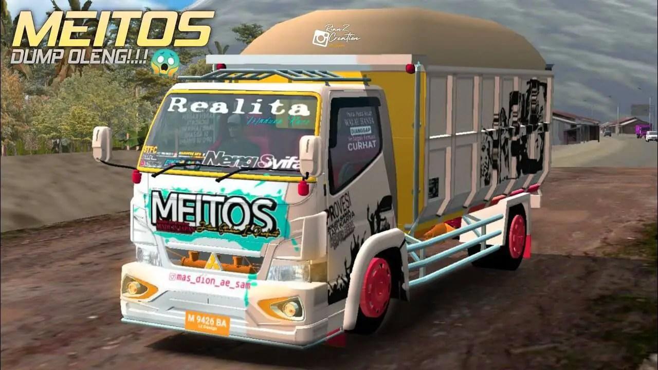 Canter Dump Truck Meitos, Canter Dump Truck Meitos Mod BUSSID, Mod BUSSID Canter Dump Truck Meitos, MOD Canter Dump Truck Meitos BUSSID, BUSSID Truck Mod, RMC Creation, SGCArena