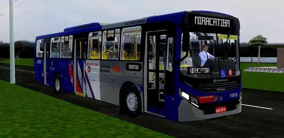 Download Gaius Apache VIP IV MB 1724 L | Miracatiba Standard Bus Mod for Proton Bus, , PBS Bus Mod, Proton Bus Simulator