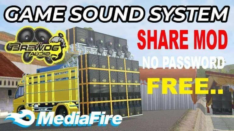 Canter HSD Sound System Brewog v5 Truck Mod BUSSID