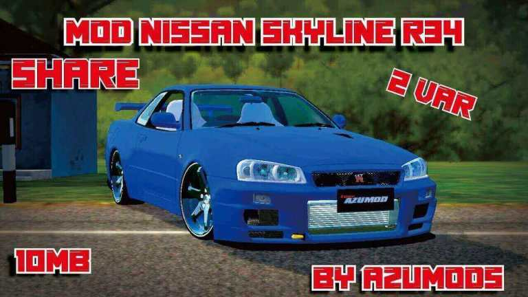 Nissan Skyline R34 Car Mod for BUSSID