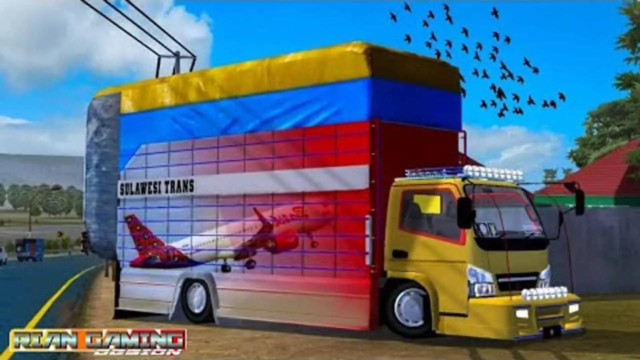 Canter Sulawesi Gayor Mod BUSSID, Canter Sulawesi Gayor Truck Mod BUSSID, Mod Canter Sulawesi Gayor Truck BUSSID, BUSSID Truck Mod