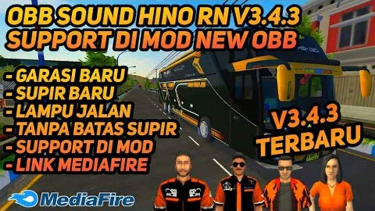 BUSSID V3.4.3 Obb: Sound Hino RN & Support Mod