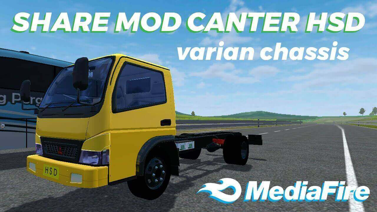 Canter HSD Chassis Truck Mod BUSSID, BUSSID Truck Mod, Canter HSD Chassis Mod