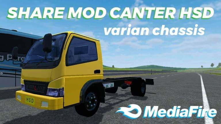 Canter HSD Chassis Truck Mod for BUSSID